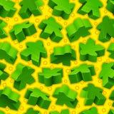 Vector groen meeples naadloos patroon stock illustratie