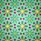 Vector Groen Naadloos Patroon Stock Afbeelding
