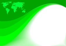 Vector groene achtergrond Royalty-vrije Stock Foto