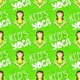Vector groene achtergrond met mandala en baby royalty-vrije illustratie