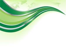 Vector groene achtergrond met wereldkaart Stock Foto
