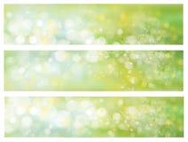 Vector groene achtergronden royalty-vrije illustratie