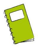 Vector groene blocnote stock illustratie