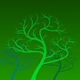 Vector groene bomen op achtergrond Royalty-vrije Stock Afbeeldingen