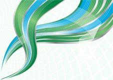 Vector groene en blauwe achtergrond Stock Foto