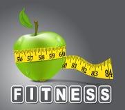 Vector groene gemeten appelsport, Stock Afbeelding