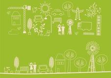 Vector - groene kopbal Stock Afbeelding