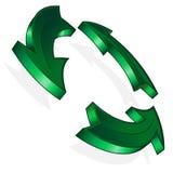Vector groene pijl Stock Foto's