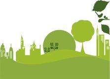 Vector - groene stad Royalty-vrije Stock Foto