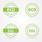 Vector groene zegels Royalty-vrije Stock Afbeelding