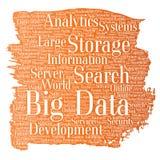 Vector grote de opslagsystemen van de gegevens grote grootte stock illustratie