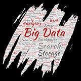 Vector grote de opslagsystemen van de gegevens grote grootte royalty-vrije illustratie