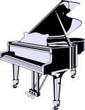 Vector grote piano Royalty-vrije Stock Foto's
