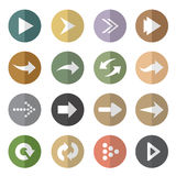 Vector group of arrow in the circle Stock Images
