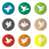 Vector group of bird in the circle Royalty Free Stock Images