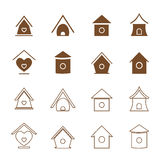 Vector group of bird houses Stock Photos