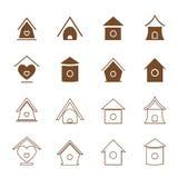 Vector group of bird houses Stock Photos