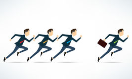 Vector group business man competitive business. Character business people active run Stock Photo