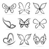 Vector group of butterflies Royalty Free Stock Images