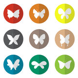 Vector group of butterfly in the circle Royalty Free Stock Image