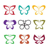 Vector group of butterfly design on white background. Insect. Stock Image