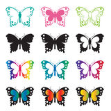 Vector group of butterfly Stock Photo