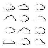 Vector group of clouds Stock Photo