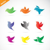 Vector group of colorful bird stock illustration