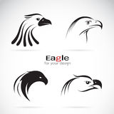 Vector group of eagle head design Stock Photography