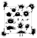 Vector - group of funny creatures similar to micro Royalty Free Stock Image