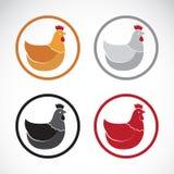 Vector group of hen design Stock Photos