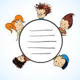 Vector Group Of Children Royalty Free Stock Image