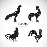 Vector group of rooster design Stock Photos