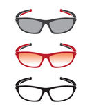 Vector group of an sunglasses Stock Image