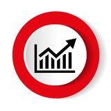 Vector growing graph icon Graph icon. Business analytics chart symbol. Vector growing graph icon Graph icon. Business analytics chart symbol Royalty Free Stock Photos