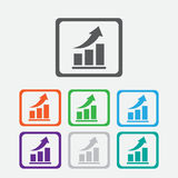 Vector growing graph icon. Infographic chart Stock Photography