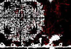 Vector grunge abstract floral background Royalty Free Stock Photos