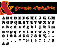 Vector grunge alphabet. A - Z and other marks Royalty Free Stock Image