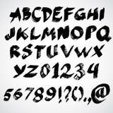 Vector grunge alphabet Stock Image