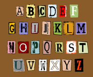 Vector of grunge alphabet Royalty Free Stock Photography