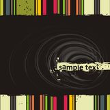 Vector grunge background. Grunge black background in vector Royalty Free Stock Photo