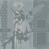 Vector grunge background. With a grieving angel. CD cover Stock Photography