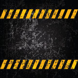 Vector grunge background with caution stripes. And copy space Royalty Free Stock Image
