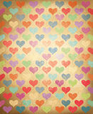 Vector grunge background with colorful hearts patt Royalty Free Stock Photography