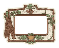 Vector: grunge background with hunting border Royalty Free Stock Photo