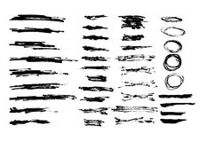 Vector grunge background. Set of black blots and ink splashes Royalty Free Stock Photography