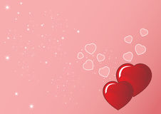 Vector grunge background for valentine Royalty Free Stock Photos