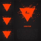 4 vector grunge backrounds. Set of 4 vector grunge triangle abstract backgrounds Royalty Free Stock Photography