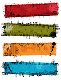 Vector grunge banners Stock Image