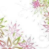 Vector grunge bloemenachtergrond Stock Afbeeldingen